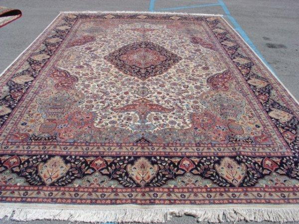 1374: 200 + Kpsi Silk & Wool Pile Cashmiri Rug 15x10