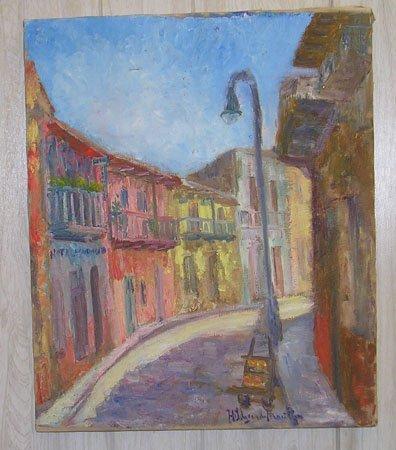 15004: Oil on Canvas by listed artist HILDEGARDE HAMILT