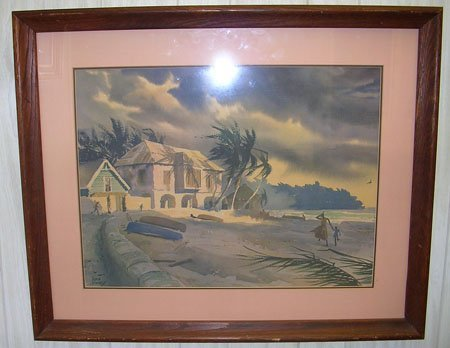 15006: Watercolor by listed artist John Pike