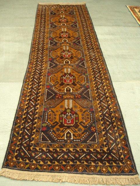 15019: Amazing Afghan Herati Runner Rug 10x3