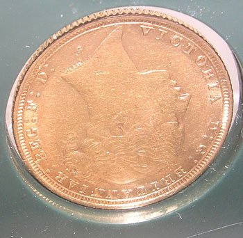 842: 22KY Germany/Prussia 20 Marks Gold Coin c.1873