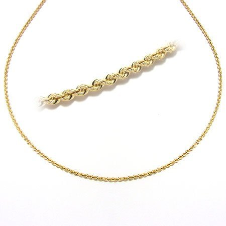 21: 18kt yellow gold rope style necklace