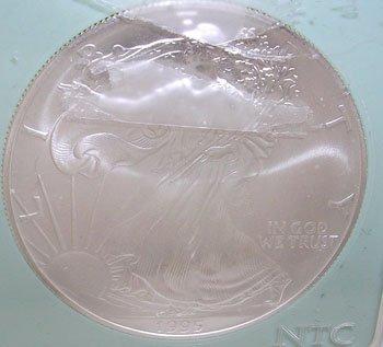 418A: 1995 AMERICAN SILVER EAGLE NTC MS-68