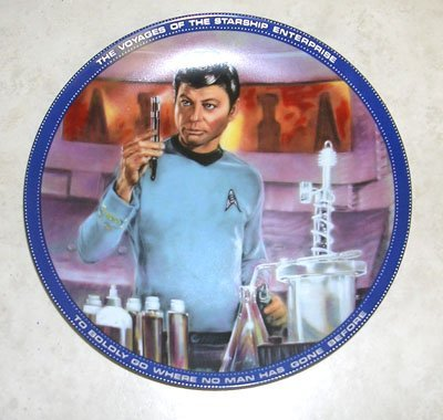 419: Star Trek Dr. McCoy Collectors Plate with Certific