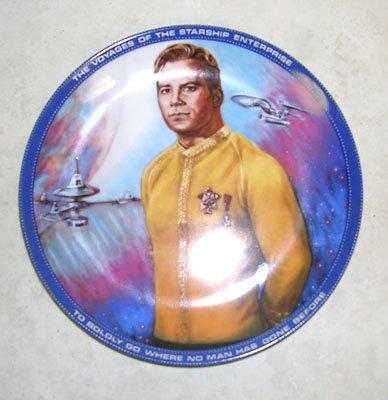 421: Star Trek Capt. Kirk Collectors Plate with Certifi
