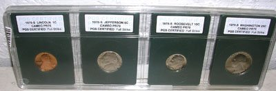 920: 1978-S Certified QuarterDimeNickelPenny Cameo PR70