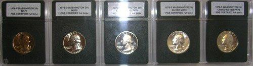 921: 1976 Washington Quarter PGS CERTIFIED 5 coin Set