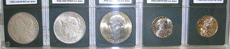 921A: 5 COIN Morgan Peace EisenhowerSusan B Saca Dollar