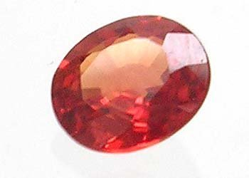 1112: .70ct red Sapphire Oval loose 5.75x4 mm
