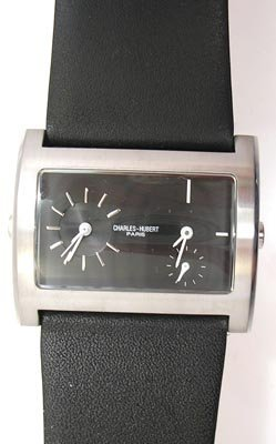 1119B: Charles-Hubert Black Modern dial Mens watch