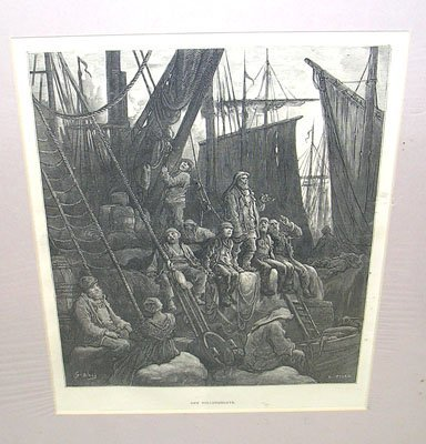 1223: Off Billingsgate by G. Dore Litho by H. Pisan