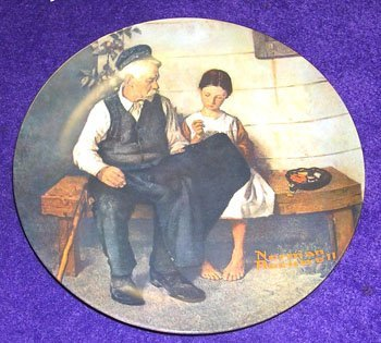 11008: Porcelain Norman Rockwell Plate The Lighthouse K