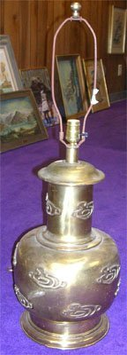 12005: Asian Brass Table Lamp