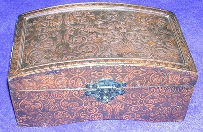 12007: Magnificent Leather Clad Box