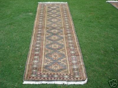 12011: 240 KPSI New Pak Uzbek Bokhara Runner Rug 8 x 3