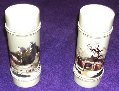 13002: Pair of Bristol Glass Vases