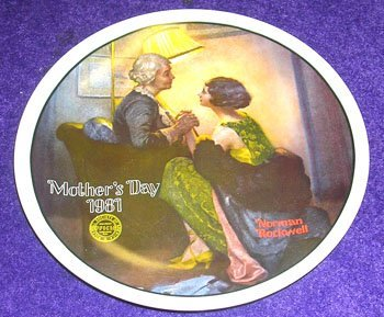 13008: Porcelain Norman Rockwell Plate After the Party