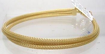 903: 14KY Italian braided 3 strand mesh bracelet 8.6