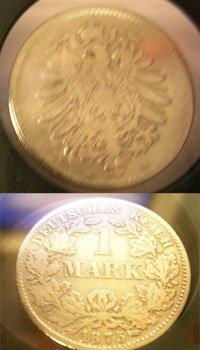 916: Rare Silver Prussia Empire Coin D 1 Mark