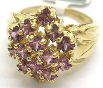 1104: 10KY 2ct Violet Spinel Ring