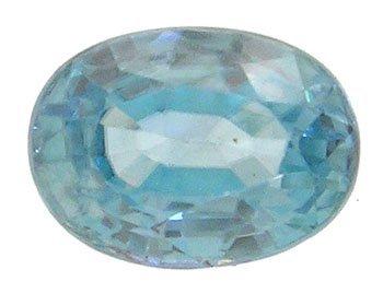 1106: 1.75ct Blue Zircon Oval loose 8x6mm