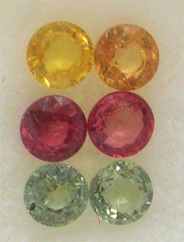 1107: 2.75 ct Mix Sapphire Round Parcel 6 pieces