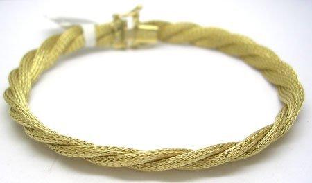 1111: 14KY Italian braided mesh bracelet 9.5gram