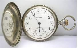 1668 Sterling Silver 7J Waltham Pocketwatch c 1903