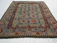 1749: Exotic S.Antique Persian Senneh Kilim Rug 10 x 7
