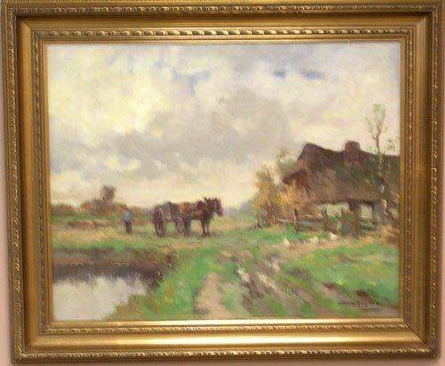 16002: Oil on Canvas by listed artist JC Van Der Heyden