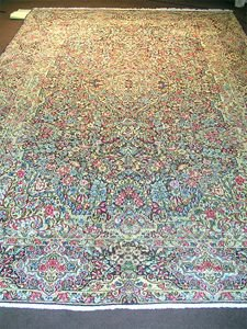 16017: Exquisite Must See Persian Kirman Rug 12x8