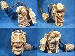 16018: Artist Signed Hippo Ivory Netsuke Ojim