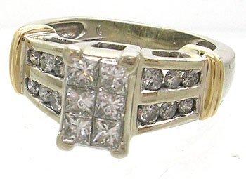 1959: 14KW 1ctw Diamond Engagement Ring