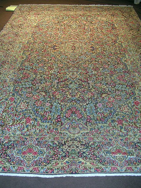 2000: Exquisite Must See Persian Kirman Rug 12x8