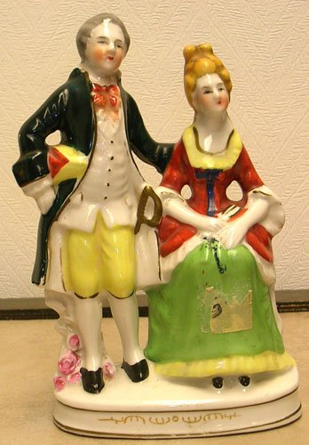 1320: Japanese Ivory Figurine Victorian Couple
