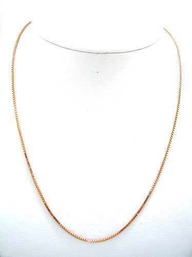 912: 14K Rose Gold 20in Solid Box Chain Necklace