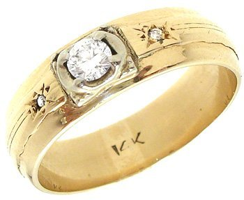 1126: 14KY .20ct Diamond Round Band