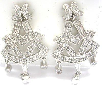 1139: 14KW .50cttw Diamond V Chandelier Earring