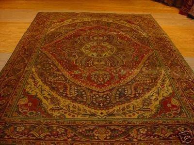 1199: SUPER ANTIQUE PERSIAN GHOM QOM QUM 7x10