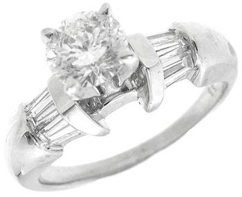 765: 14KW1.05cttw SI H color Diamond soliatire ring