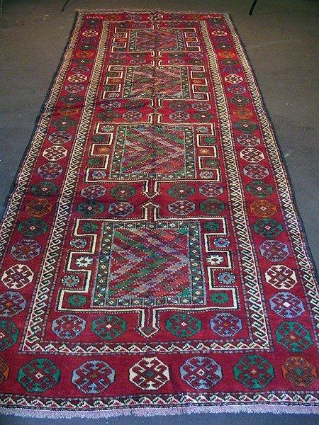 824: Fantastic Persian Karadjeh Rug 13x5