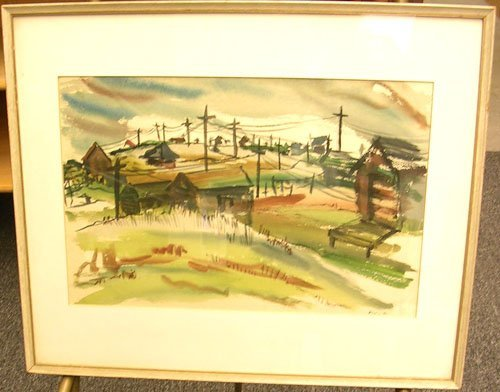15000: Watercolor on Paper by listed artist James Dew
