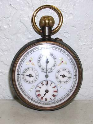 1989: Rare Swiss Calendar Pocket Watch 1900 SWPS