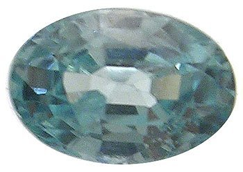 1103: .65ct Blue Zircon Oval loose