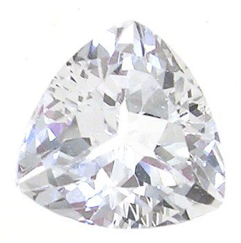 1104: 4 ct WhiteTopazTrillion Loose Stone