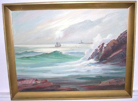 18004: Ocean View by listed artist Peter Koster