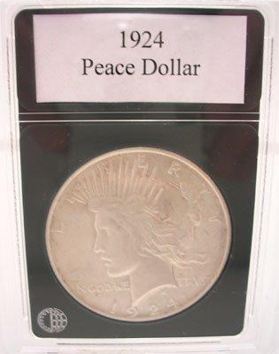 621: 1924 Peace Silver Dollar AU-50