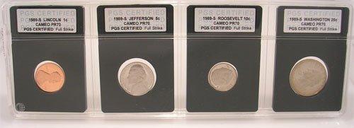 622: 1989-S CERTIFIED SLABBED PROOF CAMEO PR70 4 C