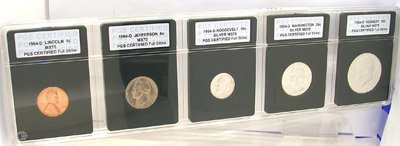 623: 1964 D 5 Coin Set INB Certified