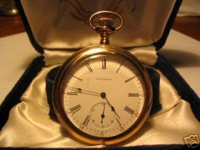 913: 1903 Estate Gents Waltham Gold Pocketwatch NW
